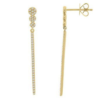 1/4ct tw Diamond Fashion Earrings in 14K Yellow Gold