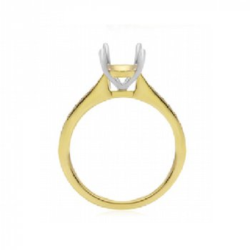 1/4ct tw Diamond Engagement Ring Setting in 14K Yellow Gold