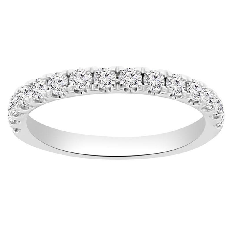 1/2ct tw NewBorn Lab Created Diamond Stackable Ring in 14K White Gold