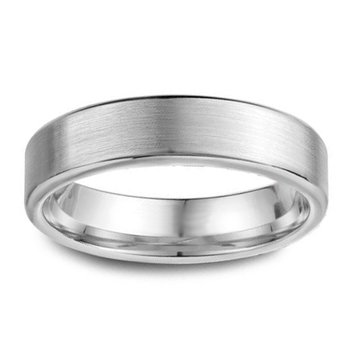 5.5mm Wedding Ring in 14K White Gold
