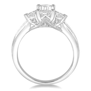 1/3ct tw Diamond Three Stone Engagement Ring Setting in 14K White Gold