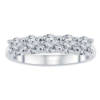 1ct tw NewBorn Lab Created Diamond Anniversary Ring in 14K White Gold