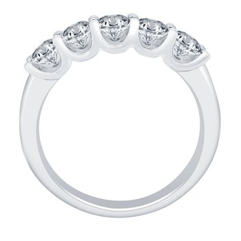 1ct tw NewBorn Lab Created Diamond Anniversary Ring in 14K White Gold