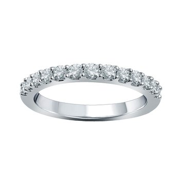1/2ct tw Diamond WOW Wedding Ring in 14K White Gold