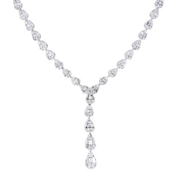 2 7/8ct tw Diamond Thousand Points of Light Necklace in 14K White Gold