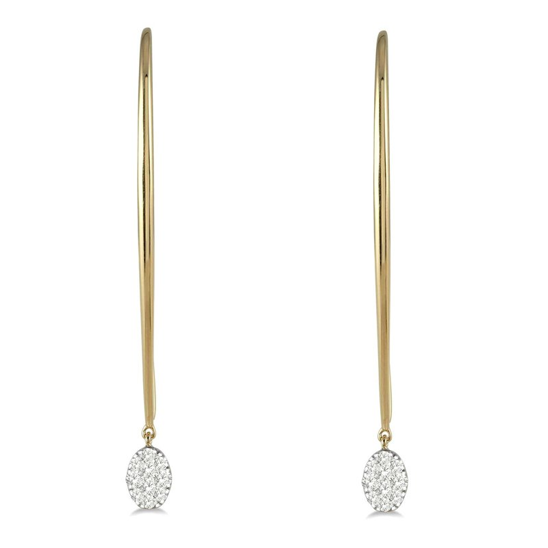 1/3ct tw Diamond Thousand Points of Light Earrings in 14K White & Yellow Gold