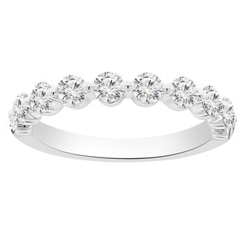 3/4ct tw Diamond Stackable Ring in 14K White Gold