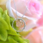 1/8ct tw NewBorn Lab Created Diamond Circle of Love Necklace in 10K White and Rose Gold