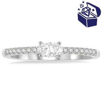 Treasure Hunt Value 1/3ct tw Diamond Stackable Ring in 14K White Gold