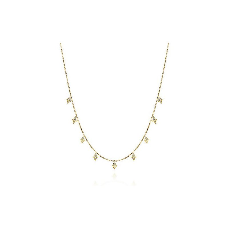 1/3ct tw Diamond Fashion Nekclace in 14K Yellow Gold