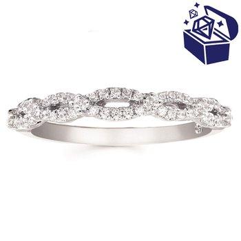 Treasure Hunt Value 1/4ct tw Diamond Wedding Ring in 14K White Gold