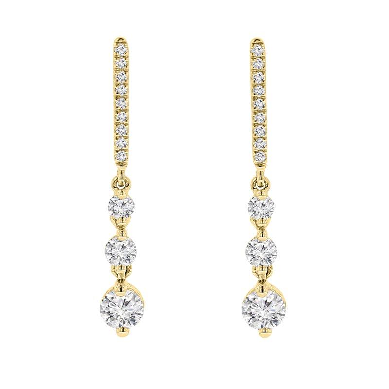 5/8ct tw Diamond Earrings in 14K Yellow Gold