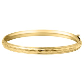 Children's Bangle Bracelet in Gold Filled 14K Yellow Gold