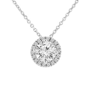 1 5/8ct tw NewBorn Lab Created Diamond Simply Love Necklace in 14K White Gold