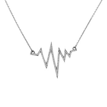 1/3ct tw Diamond Fashion Necklace in 14K White Gold