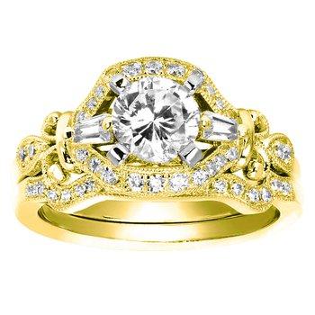 1/10ct tw Diamond Wedding Ring in 14K Yellow Gold