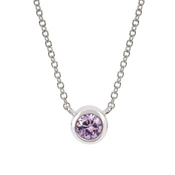 June Birthstone Necklace in 10K White Gold