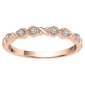 .05ct tw Diamond Stackable Ring in 14K Rose Gold
