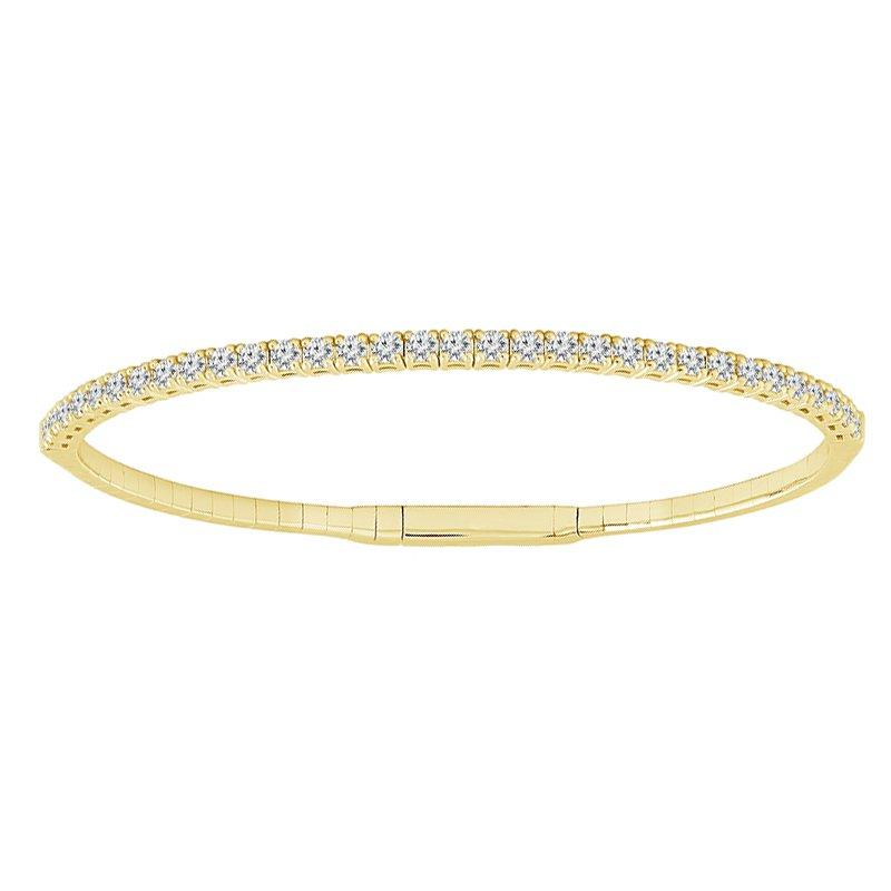 1 1/3ct tw Diamond Flexi Bangle Bracelet in 14K Yellow Gold