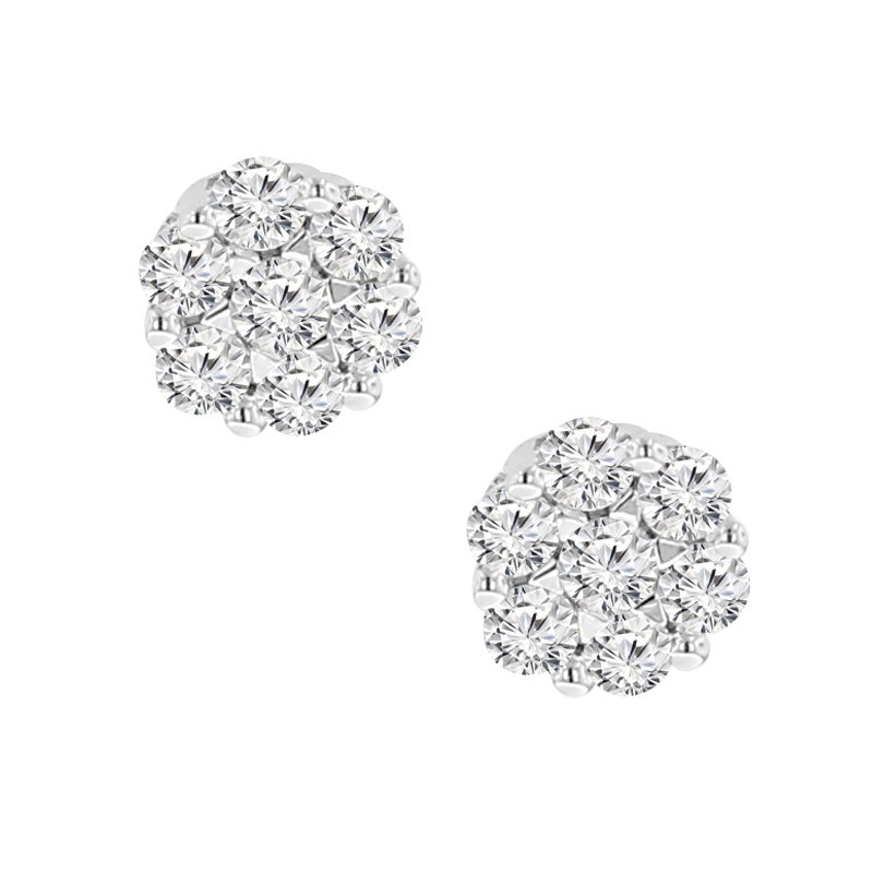 1/3ct tw Diamond Thousand Points of Light Stud Earrings in 14K White Gold