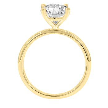 Solitaire Engagement Ring Setting in 14K White & Yellow Gold