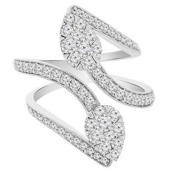 1 1/4ct tw Diamond Fashion Ring in 14K White Gold