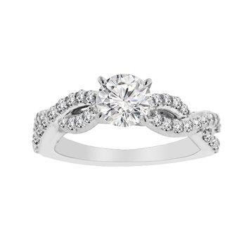 1ct tw Diamond Engagement Ring in Platinum