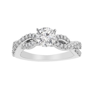 1ct tw Diamond Engagement Ring in Platinum