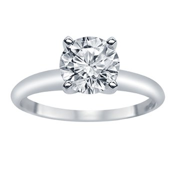 1/2ct tw Diamond Solitaire Engagement Ring in 14K White Gold