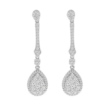 1 1/4ct tw Diamond Thousand Points of Light Fashion Earrings in 14K White Gold
