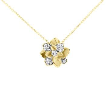 1/8ct tw Diamond Nola Collection Magnolia in 10K Yellow Gold