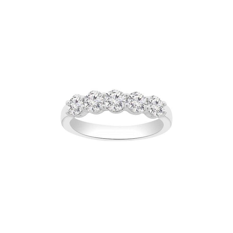 2ct tw NewBorn Lab Created Diamond Wedding Ring in 14K White Gold