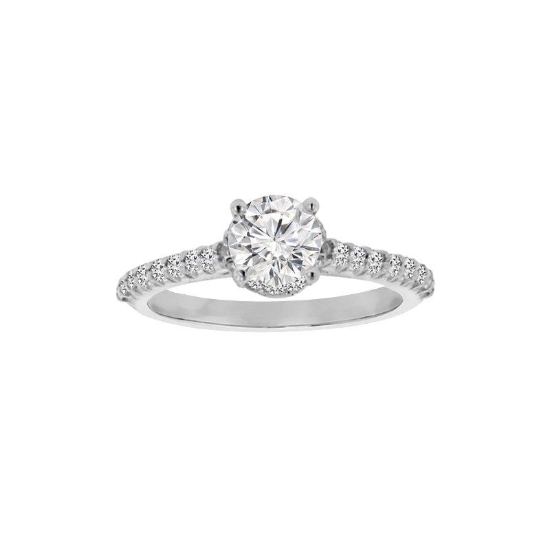 1/3ct tw Diamond Engagement Ring Setting in Platinum