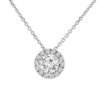 7/8ct tw Diamond Simply Love Collection Necklace in 14K White Gold