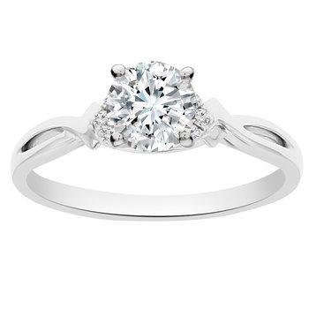1/2ct tw Newborn Lab Created Diamond Engagement Ring in 18K White Gold
