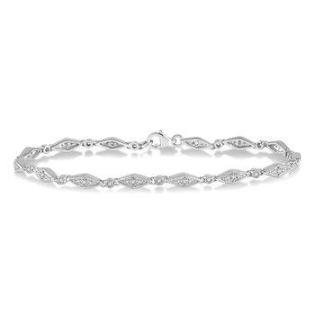 1/3ct tw Diamond Fashion Bracelet in 10K White Gold