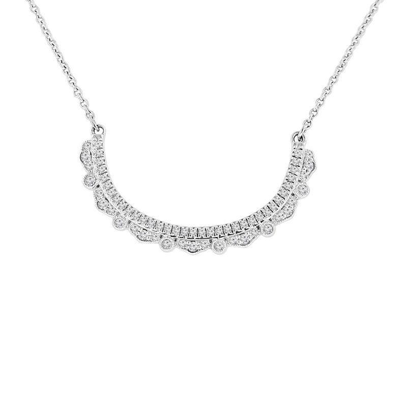 1/4ct tw Diamond Bar Necklace in Sterling Silver