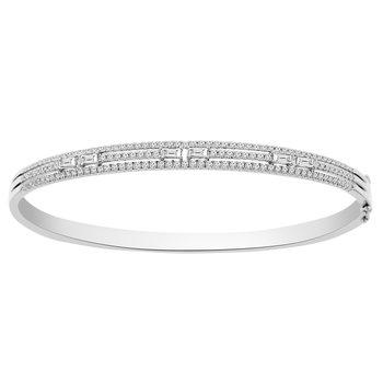 1 1/3ct tw Diamond Bangle Bracelet in 18K White Gold