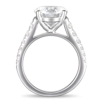 4ct tw Diamond Engagement Ring in 14K White Gold