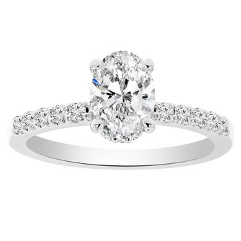 1/4ct tw NewBorn Lab Created Diamond Engagement Ring Setting in 14K White Gold