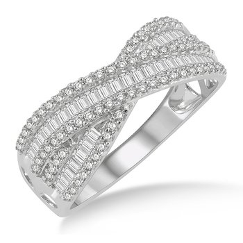 1/2ct tw Diamond Fashion Ring in 14K White Gold