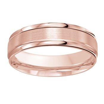 6mm Wedding ring in 14K Rose Gold