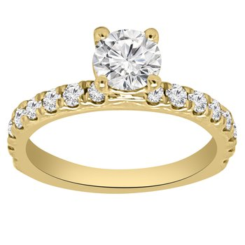 1 1/4ct tw NewBorn Lab Created Diamond Engagement Ring in 14K Yellow Gold