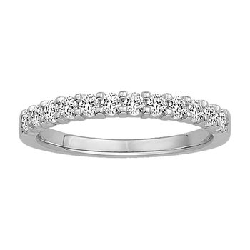 1/10ct tw Diamond Anniversary Ring in 10K White Gold