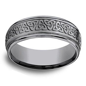 7mm Wedding Ring in Grey Tantalum