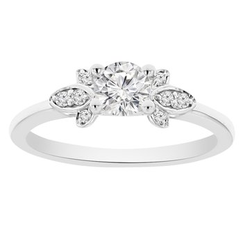 .06ct tw NewBorn Lab Created Diamond Engagement Ring Setting in 14K White Gold