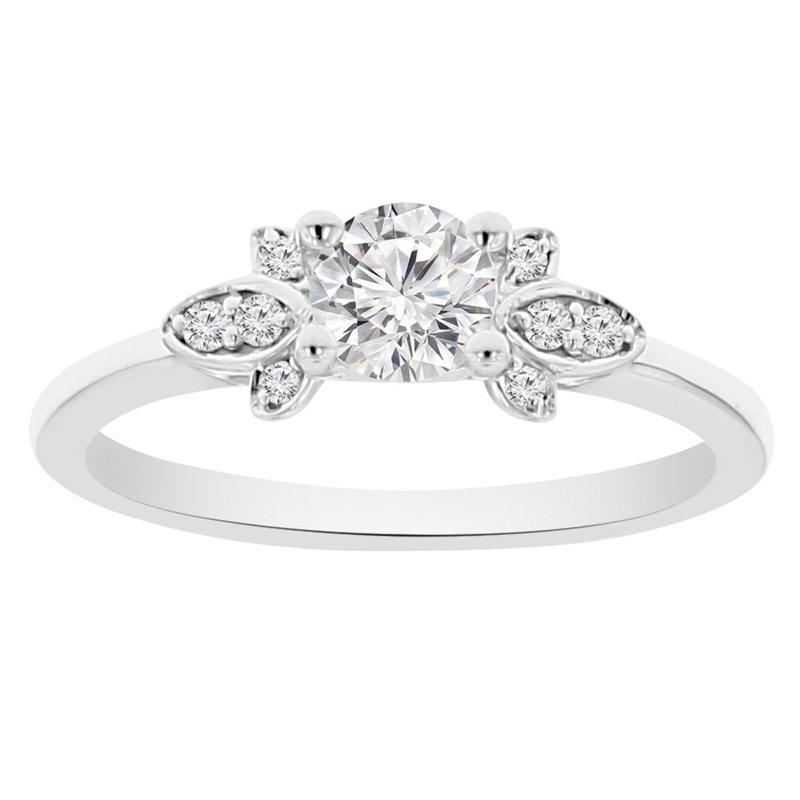 .06ct tw NewBorn Lab Created Diamond Engagement Ring Setting in 14K White Gold