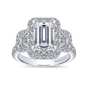1 3/4ct tw Diamond Engagement Ring Setting in 14K White Gold