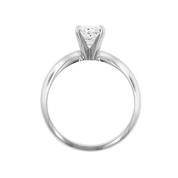 9/10ct Diamond Solitaire Engagement Ring in 14K White Gold