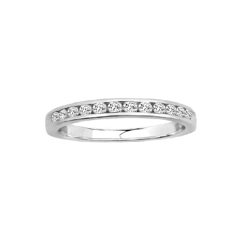 1/10ct tw Diamond Anniversary Ring in 14K White Gold